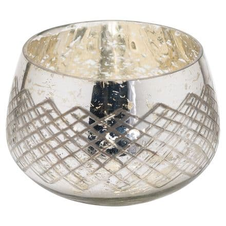 The Noel Collection Large Silver Foil Candle Holder